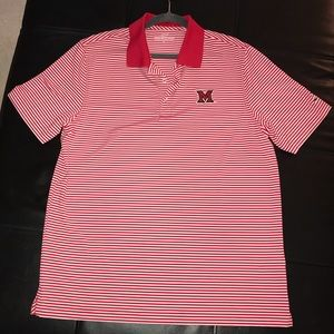 Red/White Striped Vineyard Vines Miami (OH) Polo